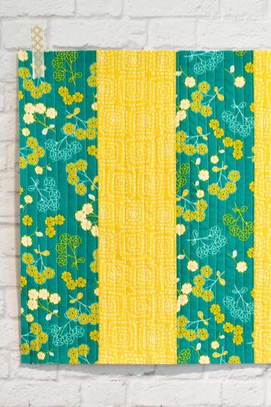 Want to learn Quilt-As-You-Go but don't know where to start? This big stripes panel will help you learn the easy quilting technique.