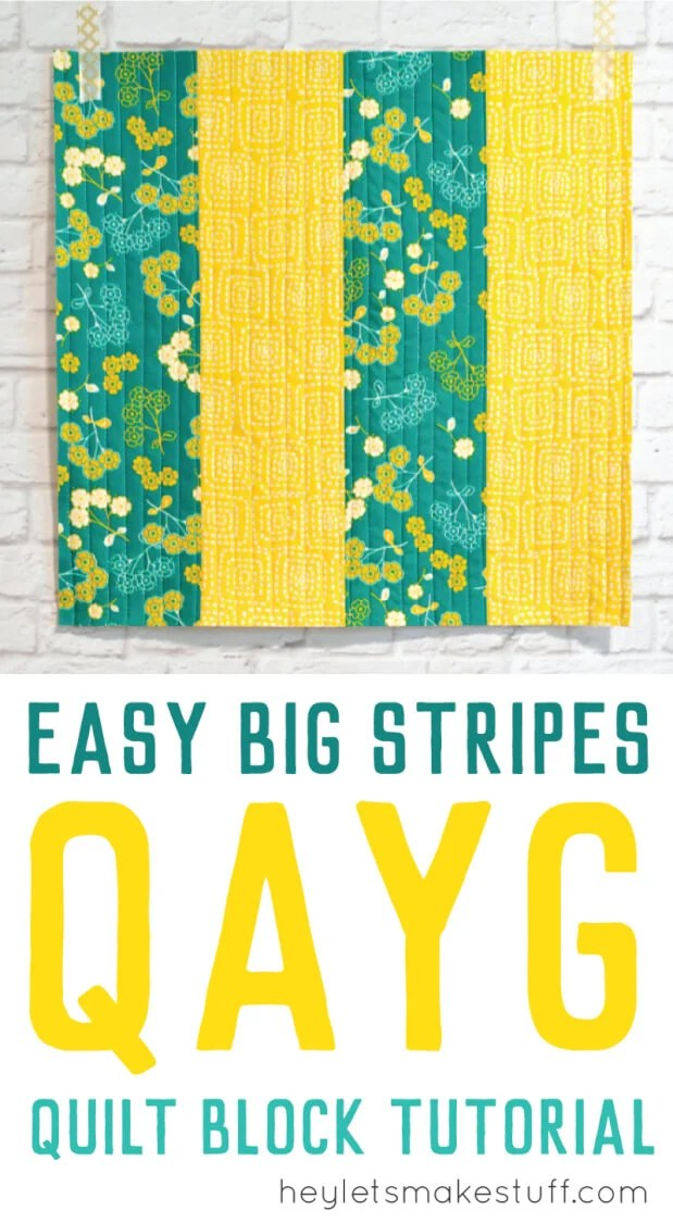 Want to learn Quilt-As-You-Go but don't know where to start? This big stripes panel will help you learn the technique and give you the confidence to try other QAYG patterns. via @heyletsmakestuf
