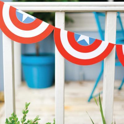 Captain America Shield Bunting