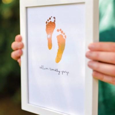 Foiled Baby Hospital Footprints
