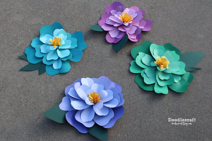 The Best Paper Flower Tutorials Hey Let S Make Stuff