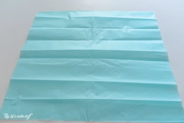tissue paper folded to make jellyfish