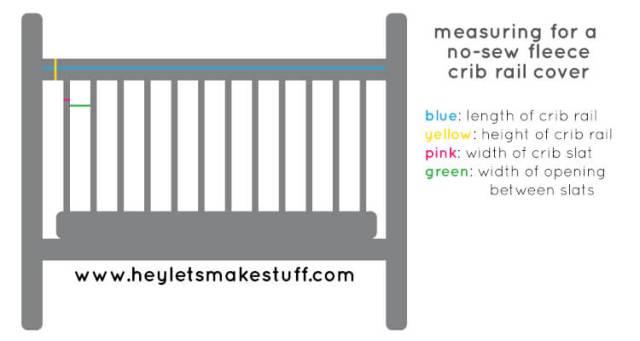 Easy No Sew Fleece Crib Rail Covers Hey Let S Make Stuff
