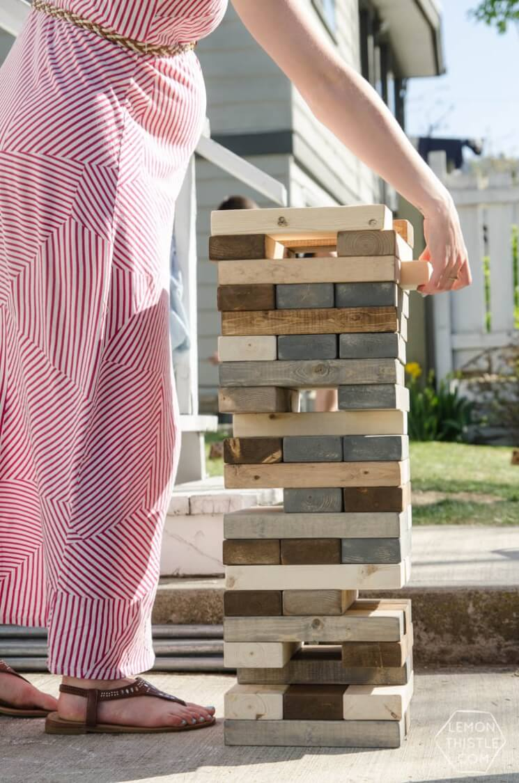 outdoor wedding games - giant jenga