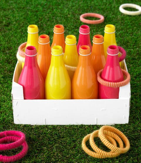 outdoor wedding lawn game - ring toss