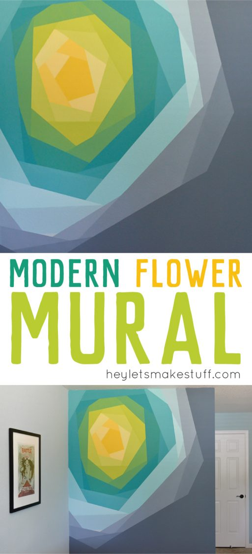 painted flower wall mural using Frog Tape pin image