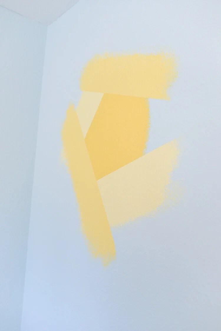 painted flower wall mural using Frog Tape - step 5
