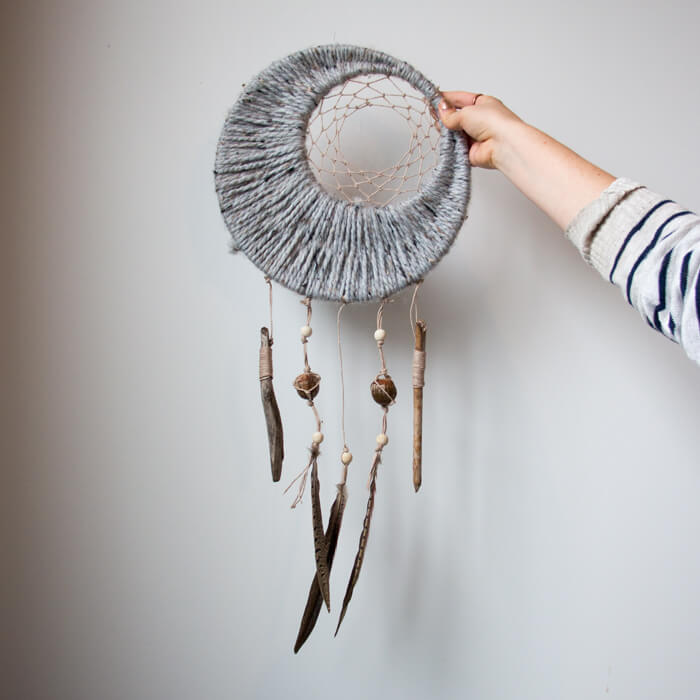 Autumnal Dreamcatcher -- If you love the delicate, boho style of a dreamcatcher, here are 10+ dreamcatcher tutorials for you to try to make your own!
