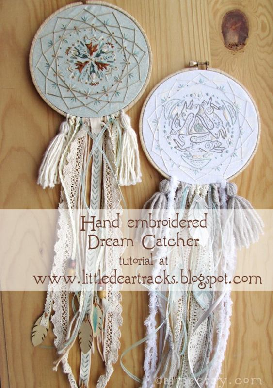 hand embroidered dream catcher