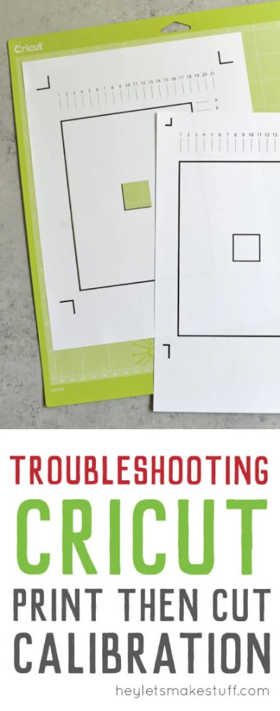 Having problems with Cricut Print then Cut Calibration? Is your Cricut Explore not reading the Print then Cut sensor marks? Here's the fix to one possible problem.