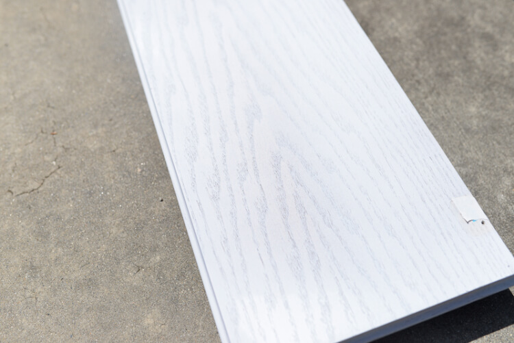 wood plank without filler