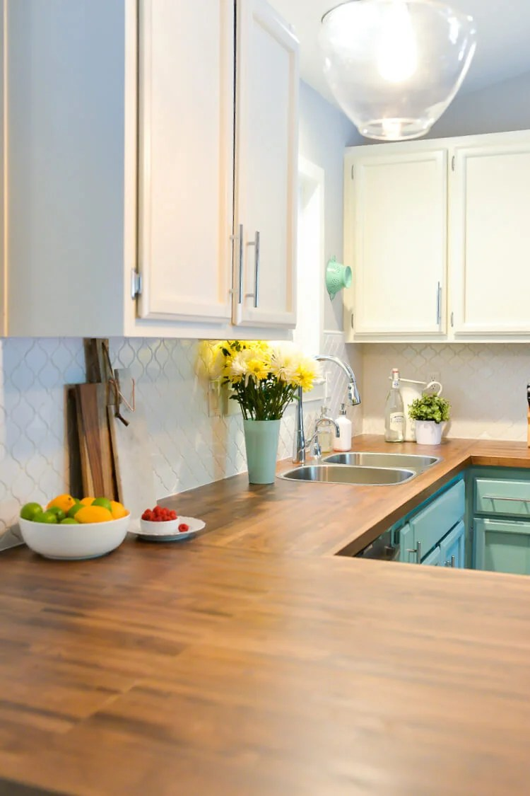 Here is the process we used to install our butcher block countertops, as well as our tips and tricks for making them look as perfect as possible!