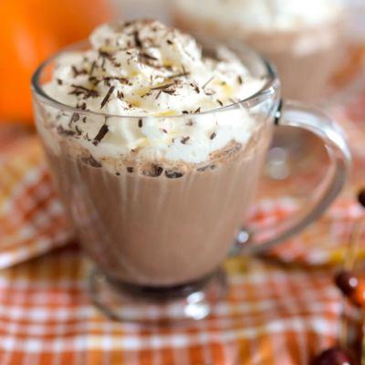 Boozy Maple Bourbon Hot Chocolate