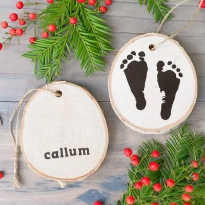 Newborn Footprint Ornaments