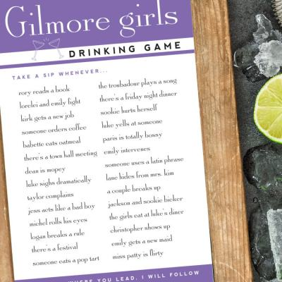 Gilmore Girls Drinking Games – Free Printable