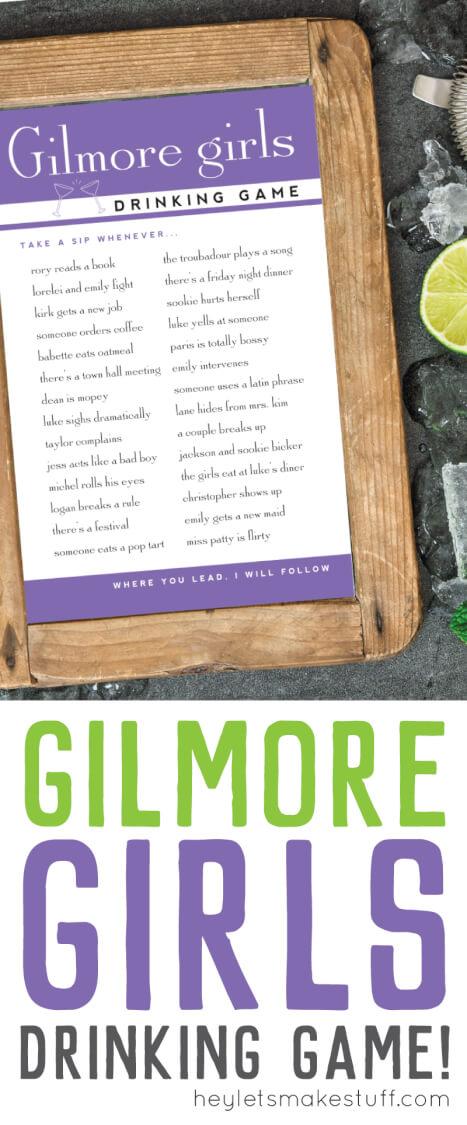 Gilmore Girls Drinking Games pin image