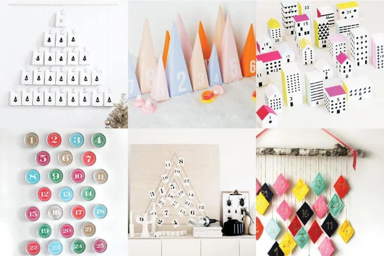 These modern DIY Advent Calendars are a fun way to count down to Christmas. A wonderful reminder of the season of Advent and the anticipation of Christmas day.