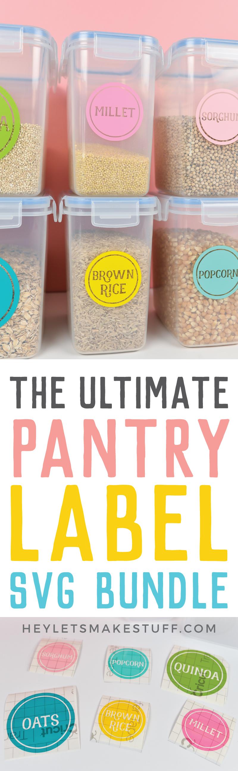 Colorful pantry label set