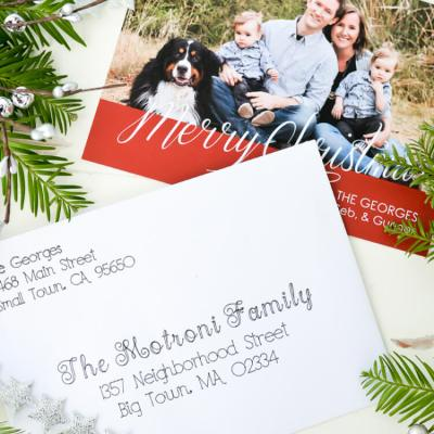Address Christmas Cards using your Cricut Explore