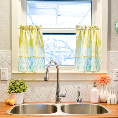 Easy Tea Towel Curtains