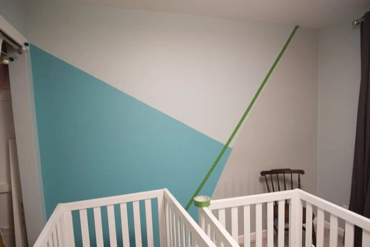 How To Paint A Geometric Wall In Your Nursery Hey Let S Make Stuff