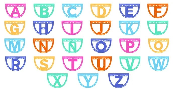 picture relating to Papel Picado Printable identified as Papel Picado Letter Garland - Hey, Permits Generate Things