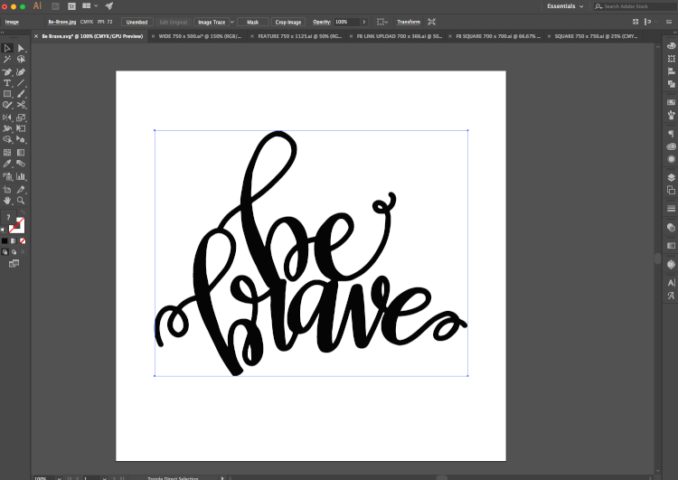 Creating an SVG in Illustrator - These are great tips and tricks for using the Cricut Design Space or Illustrator to convert your doodles, writing, and other hand-drawn images into an SVG that you can cut on the Cricut Explore!