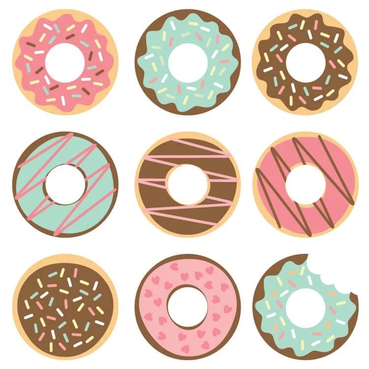 Donut Cut Files + Clip Art - Freebie Friday - Hey, Let's ...
