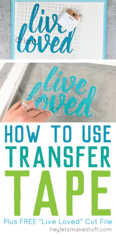 How sure how to use transfer tape? Here's how to get professional results for your vinyl projects, plus tips and tricks for getting it perfect.