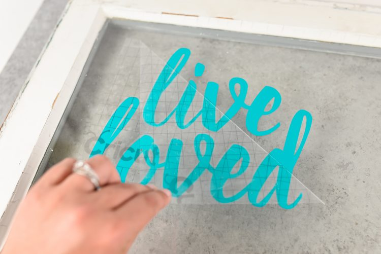 Applying transfer tape and vinyl to glass