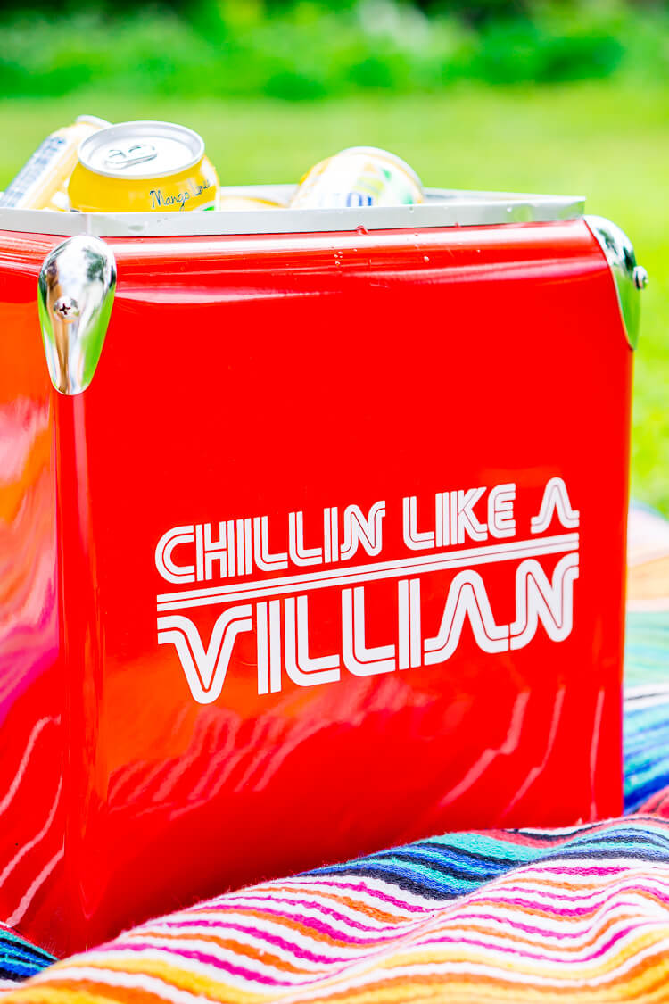 Chillin Like a Villian Ice Cooler Decal - Deck out your cooler with one of these free cut files for the Cricut or Silhouette! These ice cooler decals are a fun way to make your cooler, well, cooler!