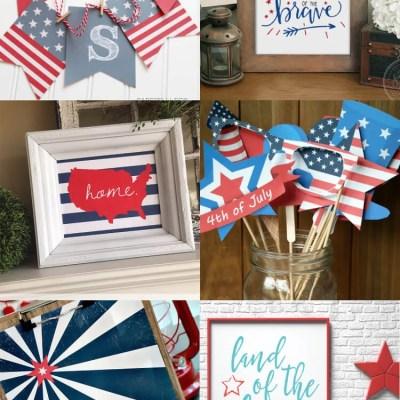 Patriotic Printables: Decor and Party Ideas