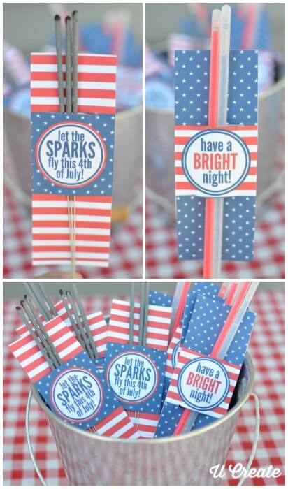 U-Create Sparkler Holder - U-Create Sparkler Holder - Celebrate the 4th of July with these free patriotic printables! Get more than 20 red, white, and blue printables from your favorite bloggers!