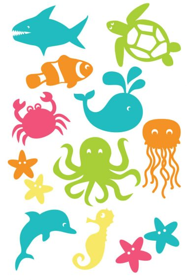 Dive into summer with free under the sea cut files and PNG clip art! Eleven adorable designs for all of your under the sea projects.