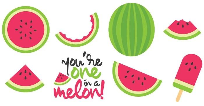 Watermelon Cut Files Clip Art Freebie Friday Hey
