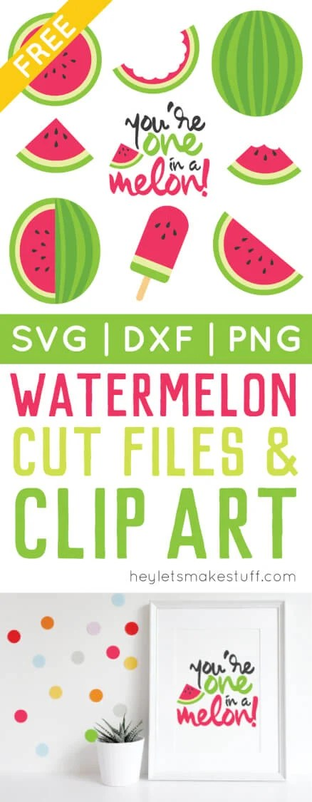 watermelon cut files   clip art - freebie friday