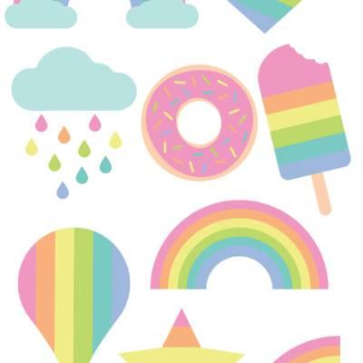 Pastel Rainbow Cut Files + Clip Art – Freebie Friday