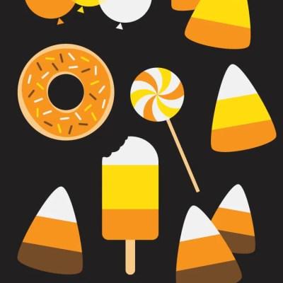 Candy Corn Cut Files + Clip Art
