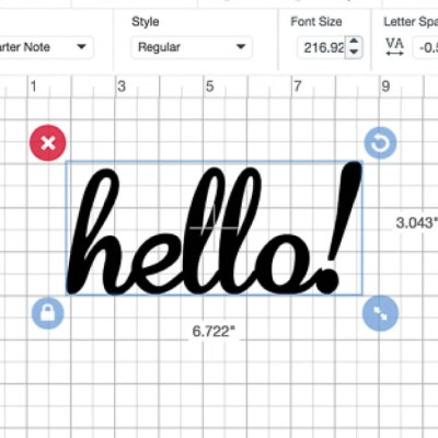 Font Basics in the Cricut Design Space