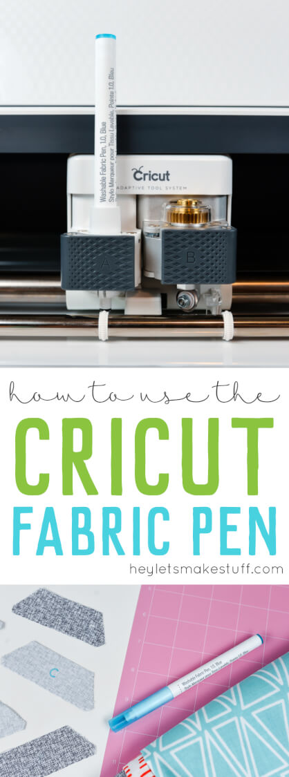 The Cricut Maker takes sewing to a new level by cutting fabric and marking patterns for you! Use the Cricut Fabric Pen to draw pattern instructions in minutes to create fabric crafts, clothing, and so much more. via @heyletsmakestuf
