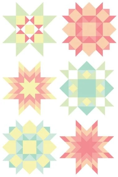 This modern and quirky quilt block clip art set is perfect for all of your creative projects! Use them on business cards, quilt labels, quilt bee fliers, and more!