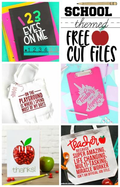Free Back to School Cut Files