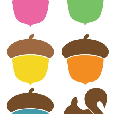 Acorn Clip Art + Cut Files