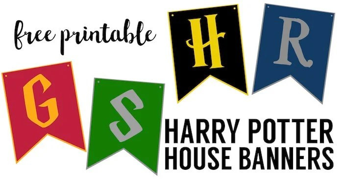 Harry Potter House Banners - Paper Trail Design