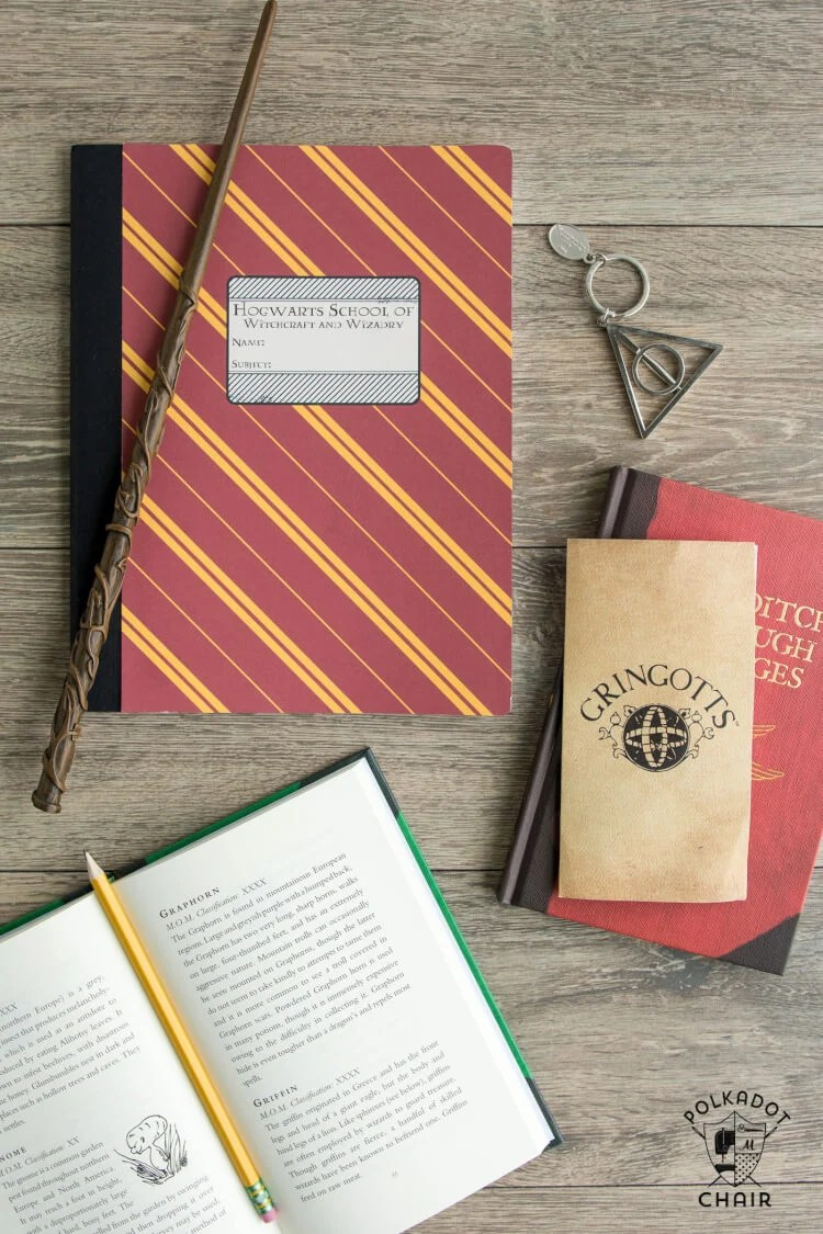 Hogwarts House Notebook - Polka Dot Chair