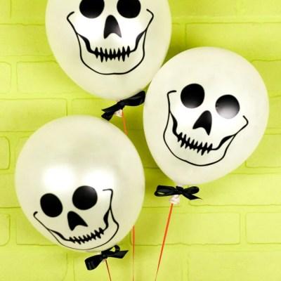 Easy Skull Balloons