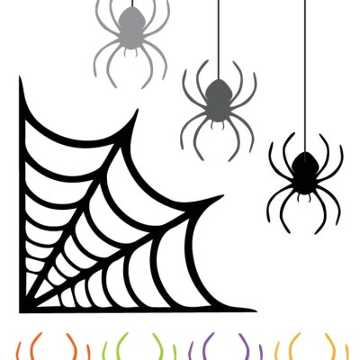 Free Spider and Spider Web Clip Art