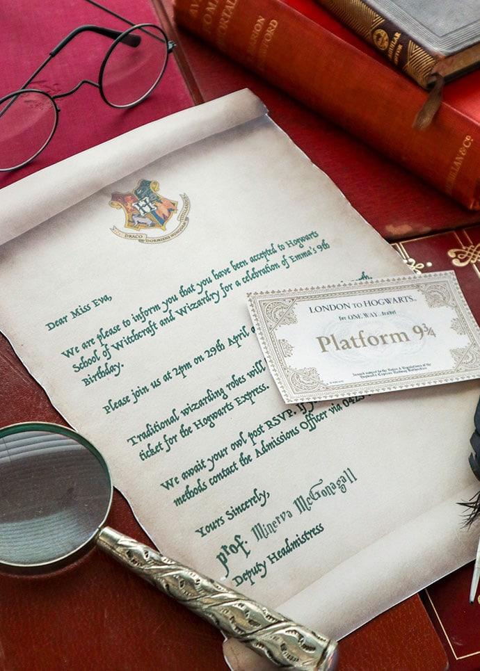 Printable Harry Potter acceptance letter