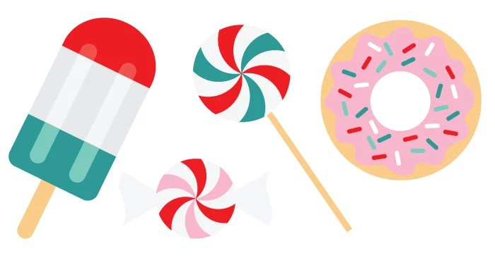 Make your Christmas extra delicious this year with these brightly colored SVG Christmas clip art and cut files! Ten yummy designs for all of your holiday projects.