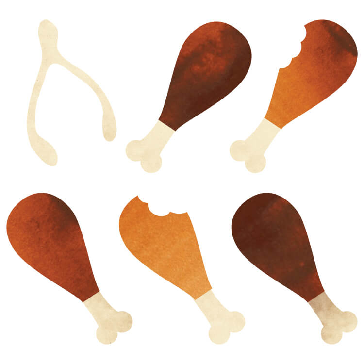 Chow down on these delicious Thanksgiving turkey drumstick clip art files! Use them on Thanksgiving invitations, cute printables, or anywhere else you could use something tasty.